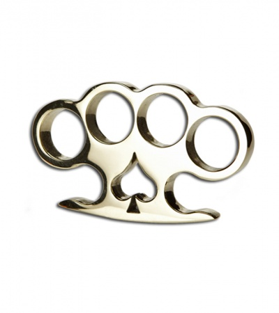 American Made Knuckles Spade Polished Brass Knuckle Weight