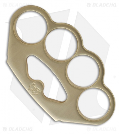 Woody Knuckles Restitution Brushed Brass Four Finger Knuckles