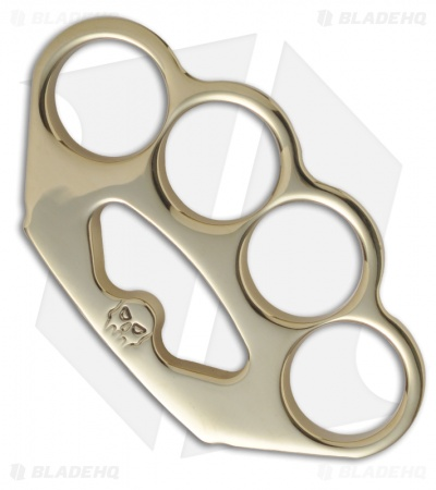 Woody Knuckles Restitution Polished Brass Four Finger Knuckles