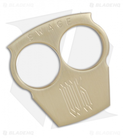 Woody Knuckles Swage Brushed Brass Two Finger Knuckles