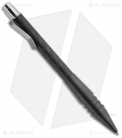 Matthew Martin Tactical 400 Series Flamed Click Pen (Zirconium/Carbon Fiber)