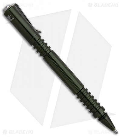 Hinderer Knives Aluminum Investigator Pen (Polished OD Green)