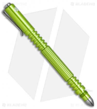 Hinderer Knives Aluminum Investigator Pen (Toxic Green Anodized)