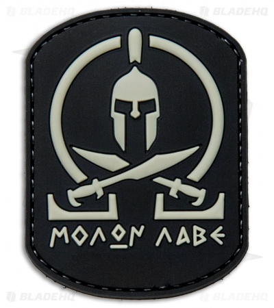 "5ive Star Gear Black ""Molon Labe"" Hook Velcro Back Morale Patch"