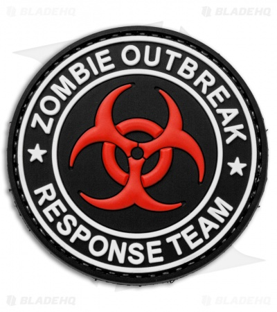 "5ive Star Gear ""Zombie Outbreak Response Team"" Hook Velcro Back Morale Patch"