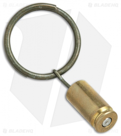Hollow-Point Gear Brass Bullet Grenade Pin Key Ring