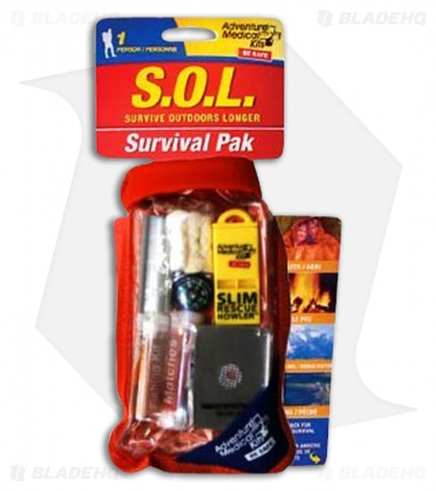 Adventure Medical Kits S.O.L. Survive Outdoors Longer SOL Survival Pack 0727