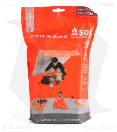SOL Sport Utility Blanket Ultralight Survival Shelter (5' x 7')