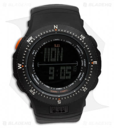 5.11 Field Ops Watch Black w/ Rubber Strap (New Design) 59245