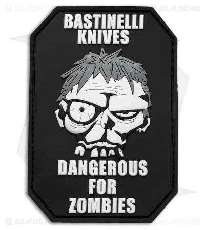 Bastinelli Creations Dangerous For Zombies PVC Patch Black