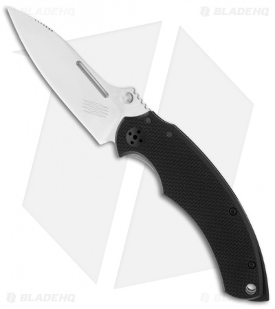 "Bastinelli BBR2 Folder Knife w/ Black G10 (3.125"" Satin)"