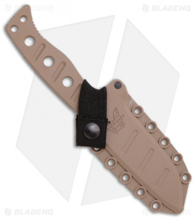 "Benchmade 375 Adamas Fixed Blade Knife (4.20"" Tan Plain) 375SN"