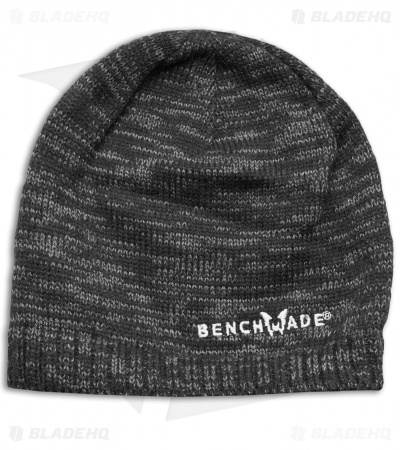 Benchmade Knives Gray Knit Beanie Hat + Embroidered Logo