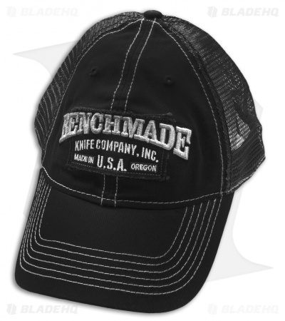 "Benchmade Knives ""Solid Steel"" Mesh Black Trucker Hat (Adjustable)"