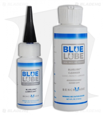 Benchmade Blue Lube Cleanser & Lubricant Bundle (4 oz / 1.25 oz)