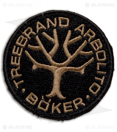 Boker Embroidered Nylon Logo Patch - Coyote Brown