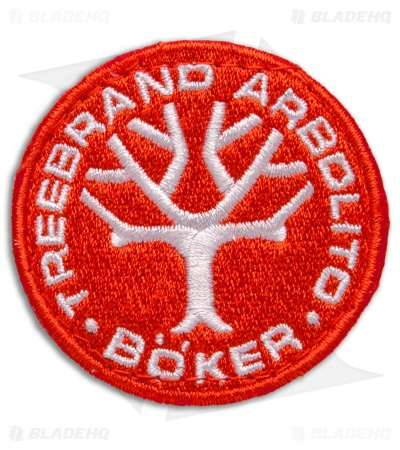 Boker Embroidered Nylon Logo Patch - Red/White