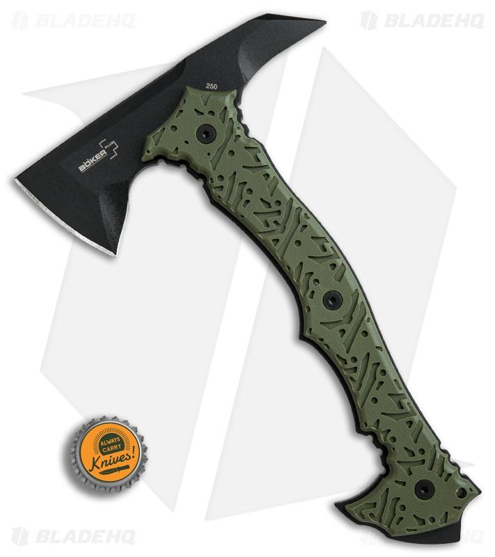 boker plus chicken hawk 9 tomahawk axe od green g 10 sk5 steel