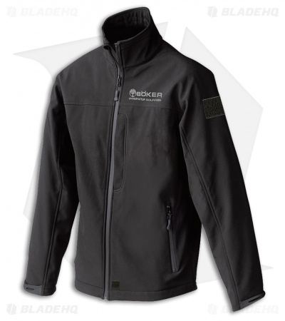 Boker Softshell Zip-Up Jacket -  Black