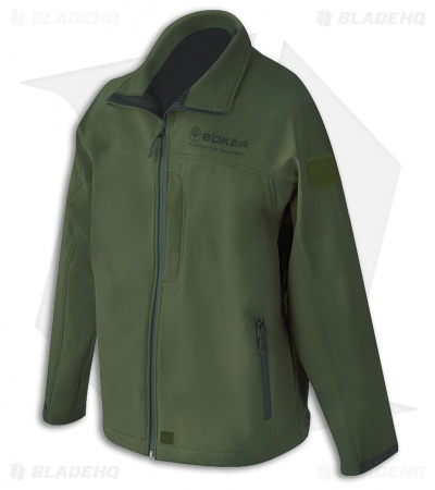 Boker Softshell Zip-Up Jacket -  Olive Green