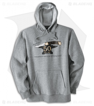 Buck 110 50th Anniversary Hoodie Heather Gray - Large