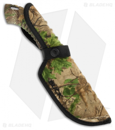 "Buck Omni Hunter 12PT Knife RealTree Xtra Green Camo (4"" Plain) 0392CMS20"