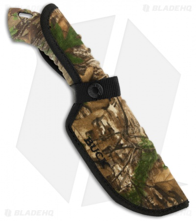 "Buck Omni Hunter 12PT Guthook Knife RealTree Xtra Green (4"" Plain) 0393CMG20"