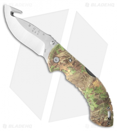 Buck Folding Omni Hunter 12PT Guthook Knife RealTree Xtra Green 0398CMG20
