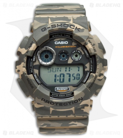 Casio G-Shock GD120 Digital X-Large Men's Watch - Green Camo GD120CM5CR