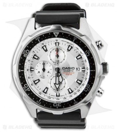 Casio Dive Sport Watch w/ Black Resin Band (White) AMW-330-7AV