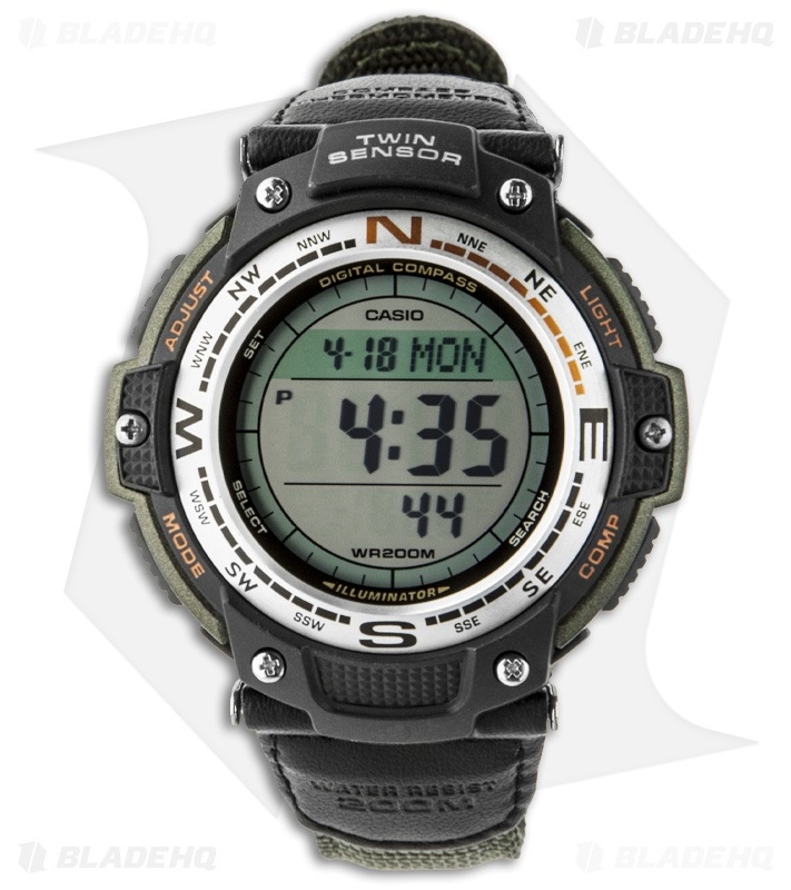 casio sensor digital compass thermometer sgw