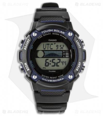 Casio Fishing/Moon Phase Solar Power Watch W-S210H-1AVCF