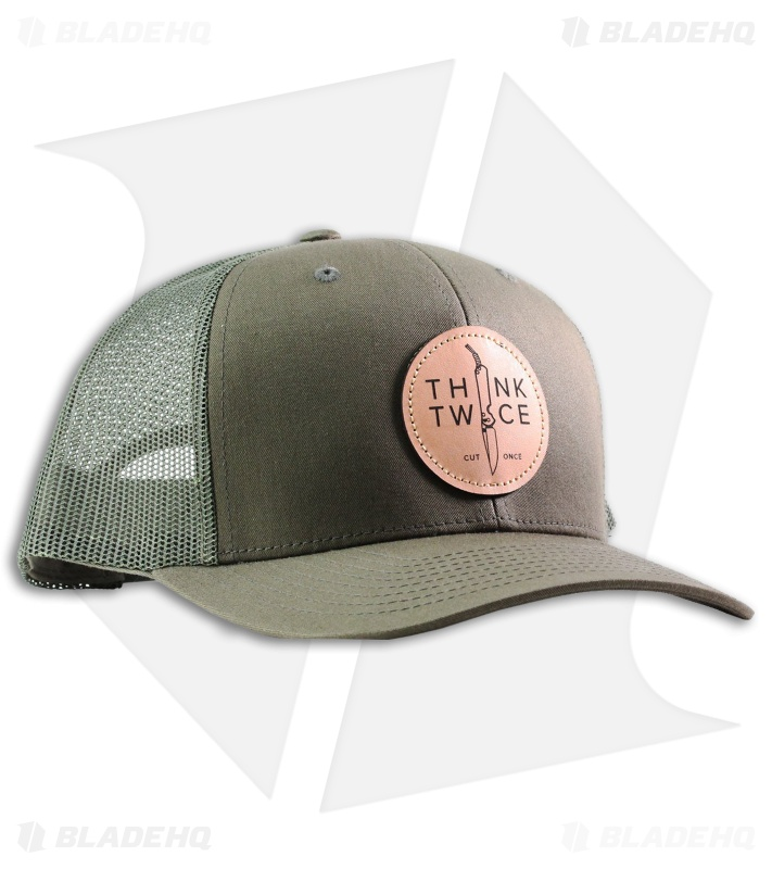 Chris Reeve Knives Think Twice Trucker Hat Loden Green (OSFA) CRK-1086