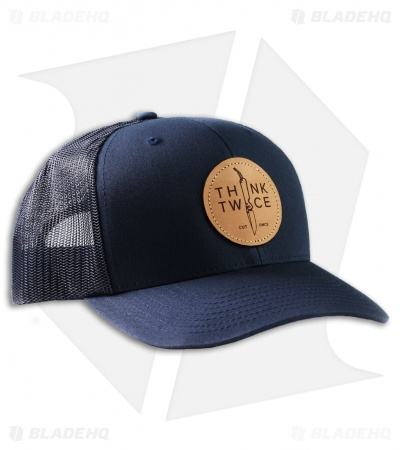 Chris Reeve Knives Think Twice Trucker Hat Navy 1087