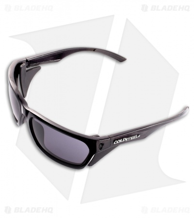 Cold Steel Mark-III Lo-Pro Battle Shades Sunglasses (Glossy Black/Gray Lenses)