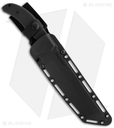 "Cold Steel Warcraft Tanto Knife Fixed Blade (7.5"" Black Plain) 13TL"
