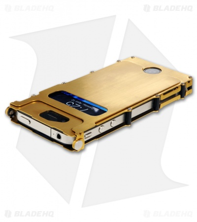 CRKT iNoxCase Stainless Steel iPhone 4/4S Case (Gold) INOX4G