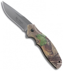 "CRKT Shenanigan Z Green Camo Ken Onion Folding Knife (3.25"" Bead Plain) K481CXP"