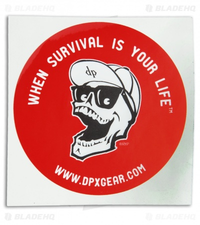 DPx Gear When Survival is Your Life Window Decal Sticker