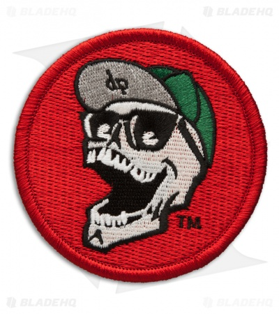 DPx Gear Mr. DP Laughing Skull Logo Velcro Patch (Red)