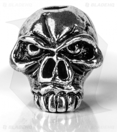 Schmuckatelli JUMBO Emerson Skull Lanyard Bead (Antique Rhodium)