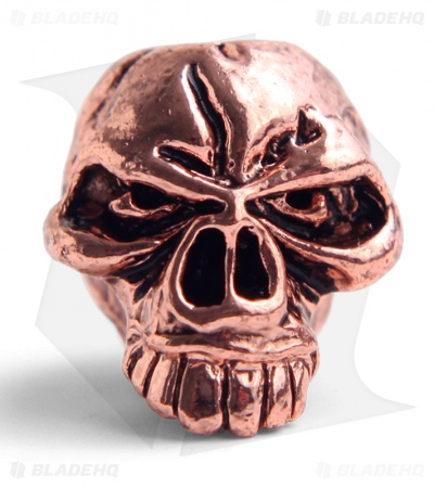 Schmuckatelli Emerson Skull Lanyard Bead (Antique Copper Plated)