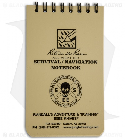 "ESEE Knives Rite in the Rain Survival/Navigation Notebook (3"" x 5"")"