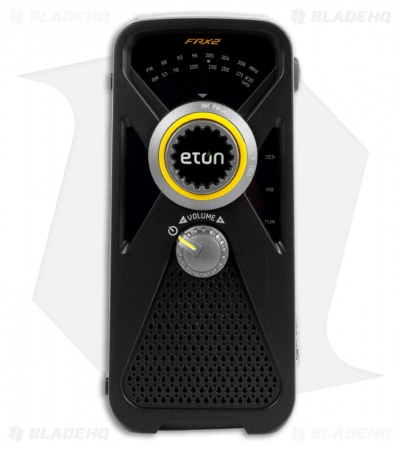 Eton FRX2 Hand Turbine AM/FM/Weather Radio w/ USB Charger & Light (Black)