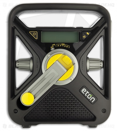 Eton FRX3 Hand Turbine AM/FM/Weather Radio w/ USB Charger & LED Light (Black)
