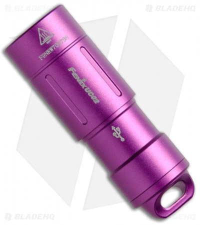 Fenix UC02 Purple Rechargeable LED Keychain Flashlight Cree XP G2S2 (130 Lumens)