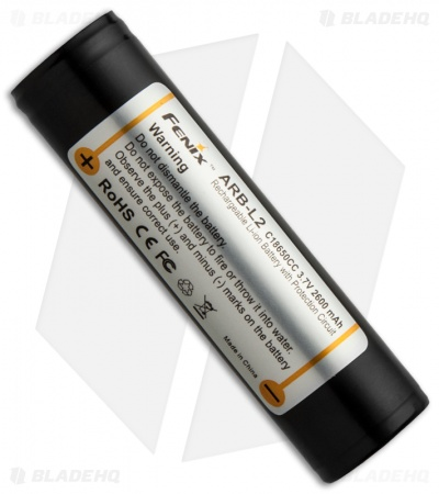 Fenix Rechargeable 18650 Li-Ion Battery 3.7V 2600mAh ARB-L2