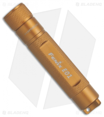 Fenix E01 Flashlight Gold Compact Nichia White GS LED + Battery (13 Lumens)
