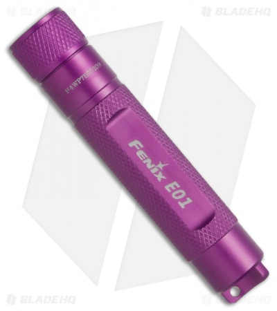 Fenix E01 Flashlight Violet Compact Nichia GS LED + Battery (13 Lumens)