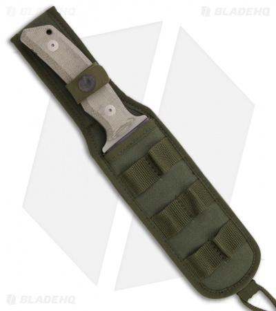 "Fox Knives ETK Exagon Tactical Knife Tan Micarta (6.69"" Bead Blast) FX-1661TK"
